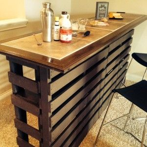 87 Epic Pallet Bar Ideas to Embrace for Your Event - Homesthetics