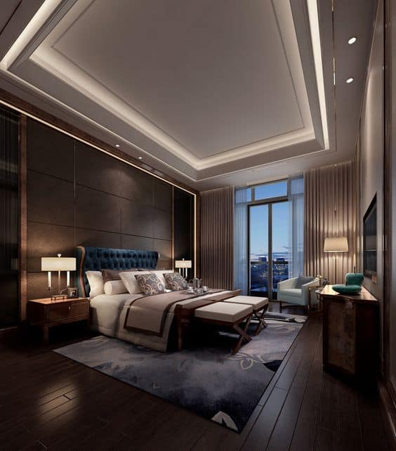 Luxury Mansion Master Bedroom Interior Design: 49 Inspiring Sculptural False Ceiling Designs To Pursue