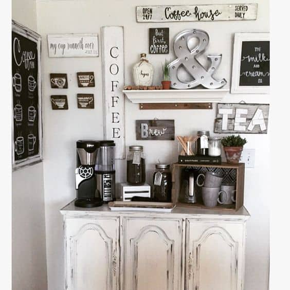 Home Coffee Bar Design Ideas: 49 Exceptional DIY Coffee Bar Ideas For Your Cozy Home