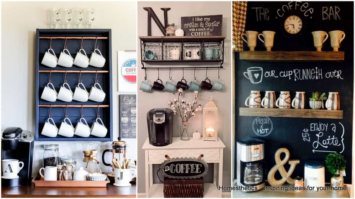 Superieur 49 Exceptional DIY Coffee Bar Ideas For Your Cozy Home