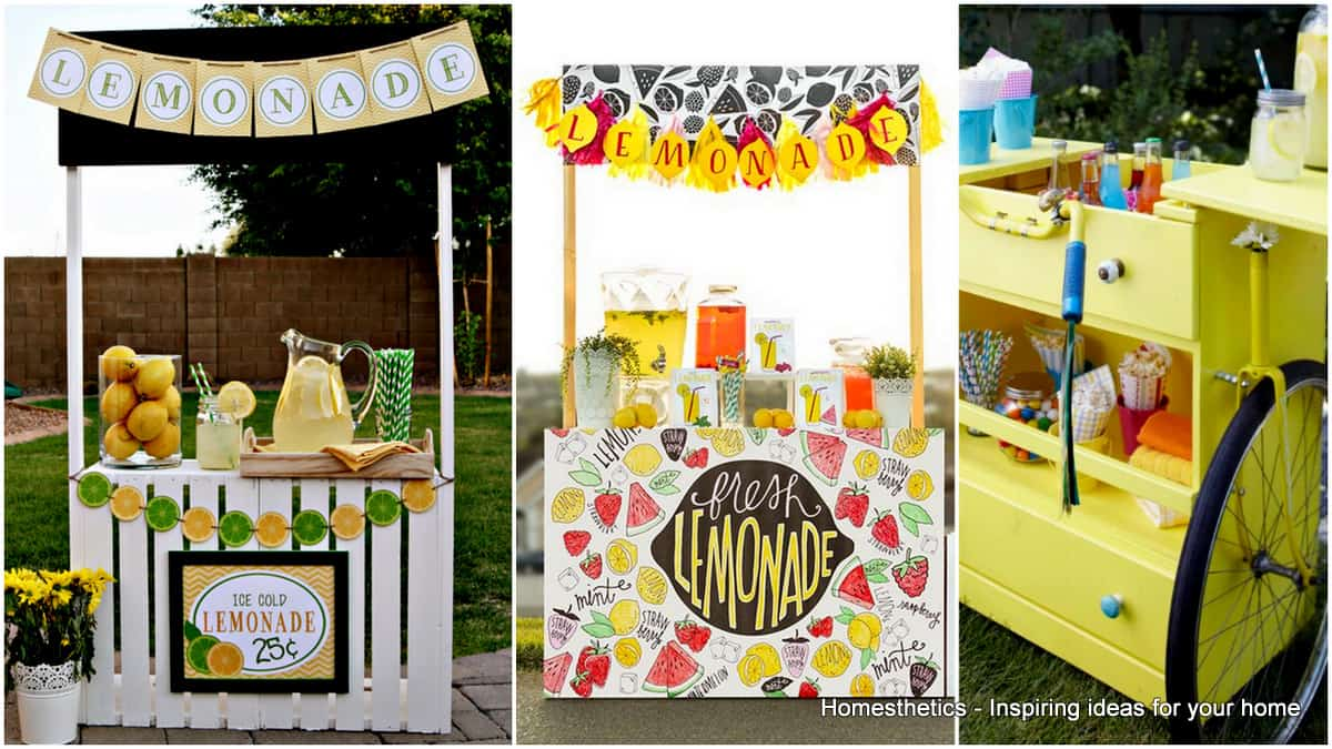 Diy lemonade stand ideas diy do it your self for How to build a lemonade stand on wheels