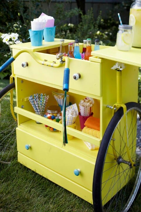 23 joyful diy lemonade stands to build happily homesthetics for How to build a lemonade stand on wheels