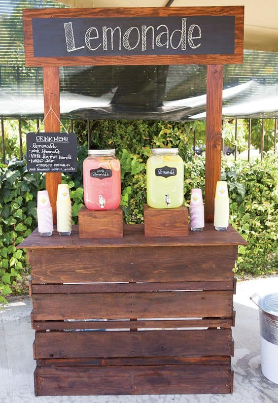 The chalkboard allows you to personalize the lemonade stand in various ways  and brings a personal touch that speaks of homemade.