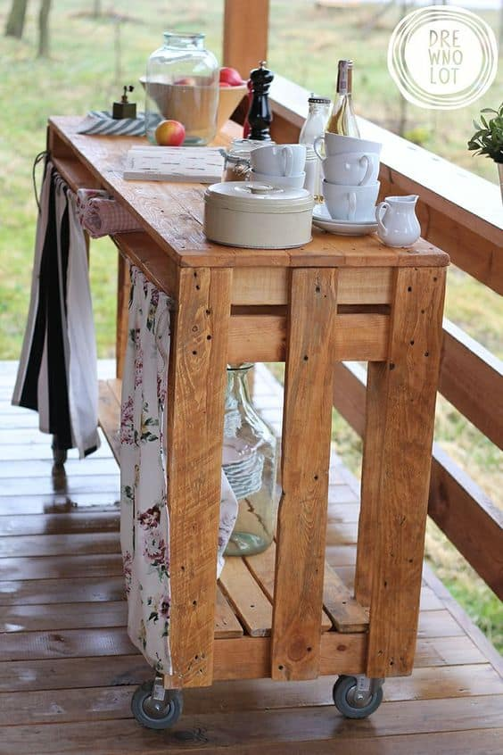 Inspirational Pallet carts can help you a great deal rolling around for all the right reasons sharing drinks and joy