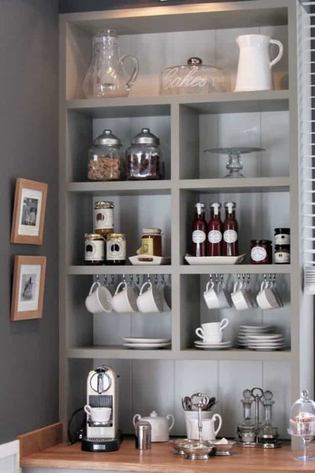 21. MODERN GRAY COFFEE STATION