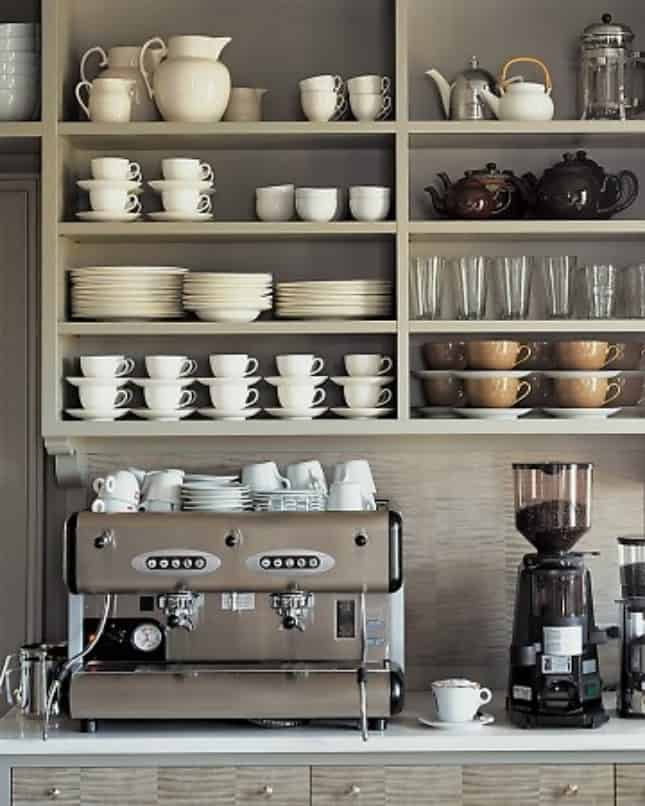 20. NEUTRAL TAUPE PROFESSIONAL COFFEE DISPLAY