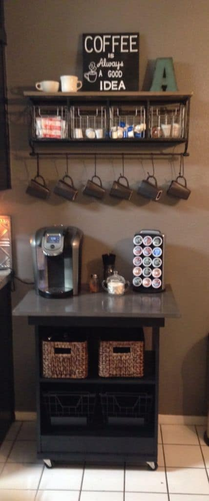 43. GOOD IDEA DIY COFFEE STATION