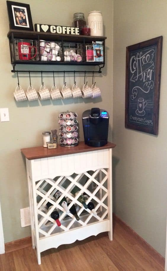 24. SMALL BRILLIANT DIY COFFEE BAR