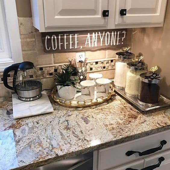 Diy Kitchen Decor Pinterest: 49 Exceptional DIY Coffee Bar Ideas For Your Cozy Home