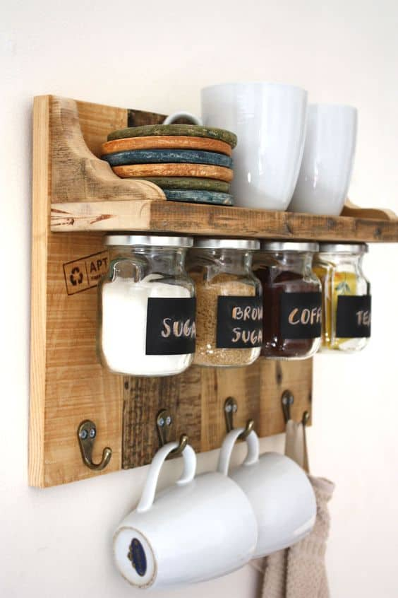 1. RECLAIMED WOOD COFFEE BAR