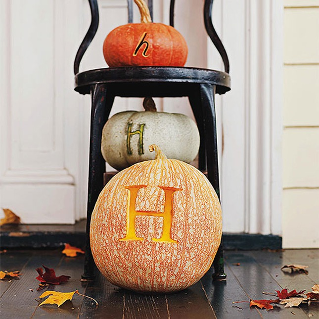 104. MONOGRAMMED PUMPKIN ON YOUR PORCH
