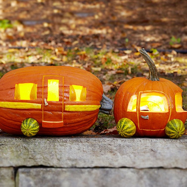 105. ADORABLE DIY CARAVAN PUMPKIN