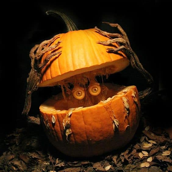 25. SCULPT YOUR PUMPKIN INTO ARTWORK