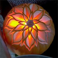 56. FLOWER PUMPKIN CARVING