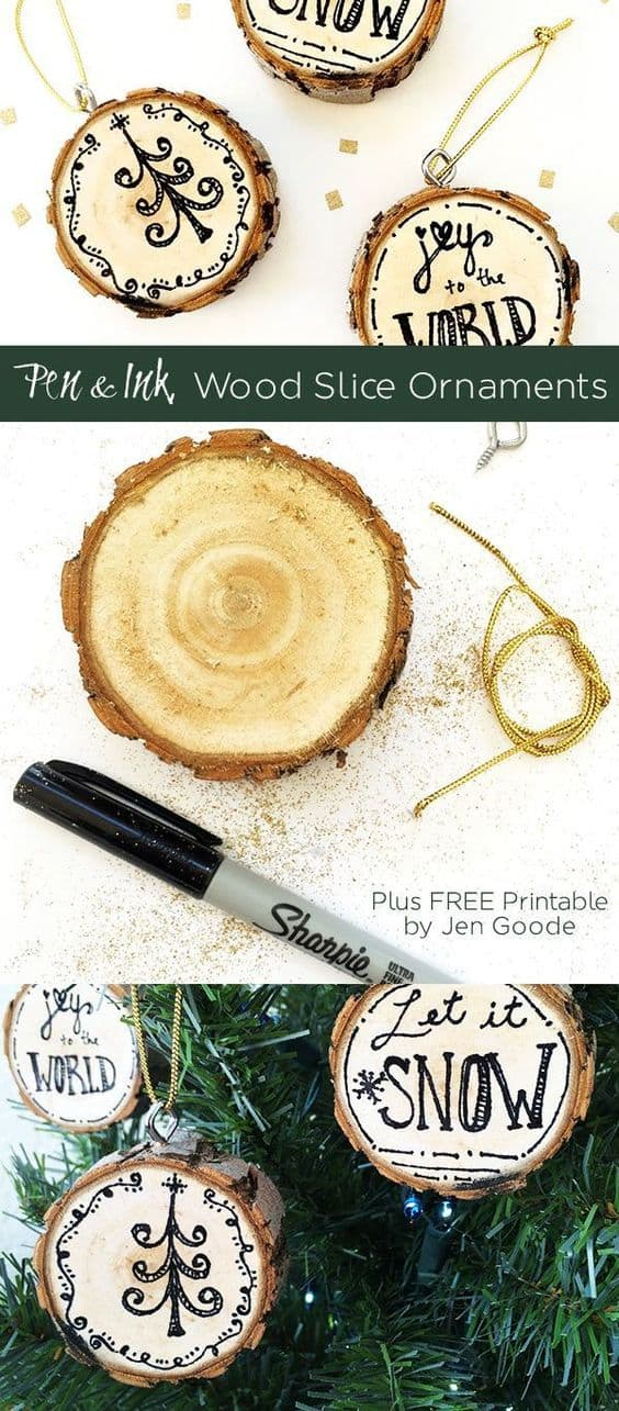 2. CREATE WOOD SLICES ORNAMENTS