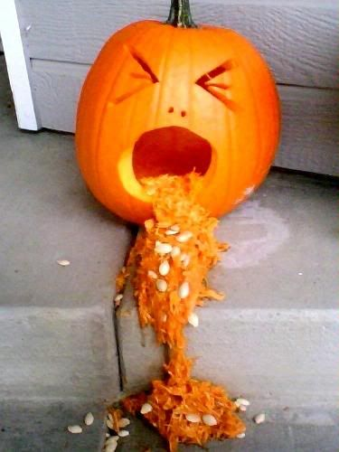 8. VOMITING PUMPKIN CARVING