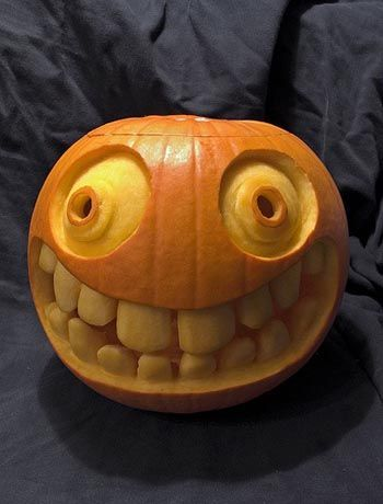 7. THE AWKWARD SMILE CARVING