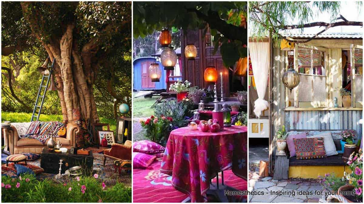 34 Colorful Bohemian Garden Designs to Embrace | Homesthetics ...