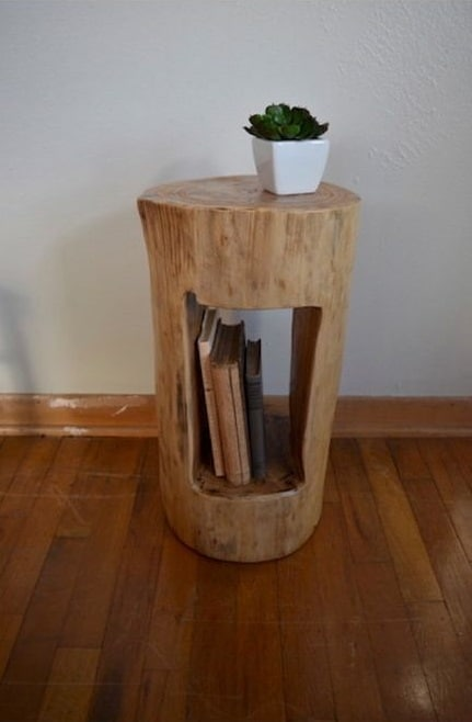 11. SIDE-TABLE WITH BOOK STORAGE