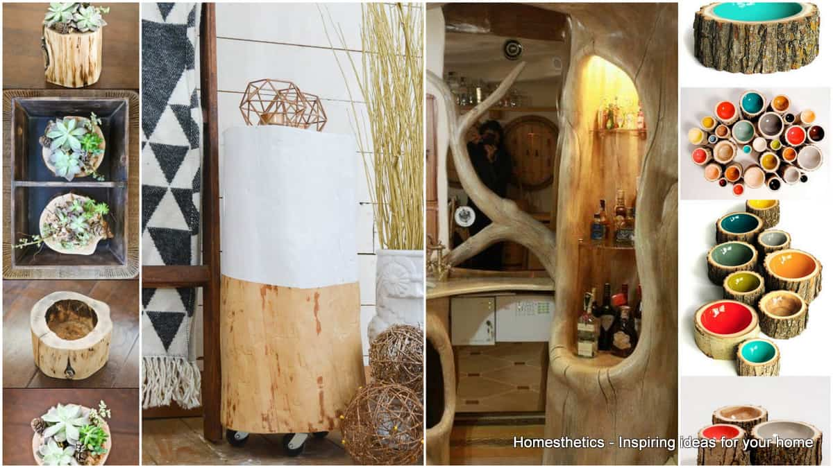 39 Spectacular Tree Logs Ideas for Cozy Households - Homesthetics