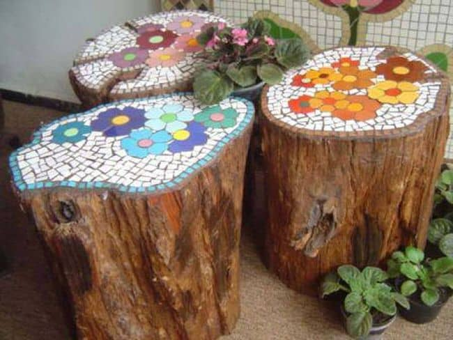 22. DECORATE WITH TILE SHARDS