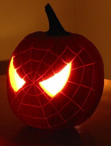 77. SPIDER PUMPKIN CARVING