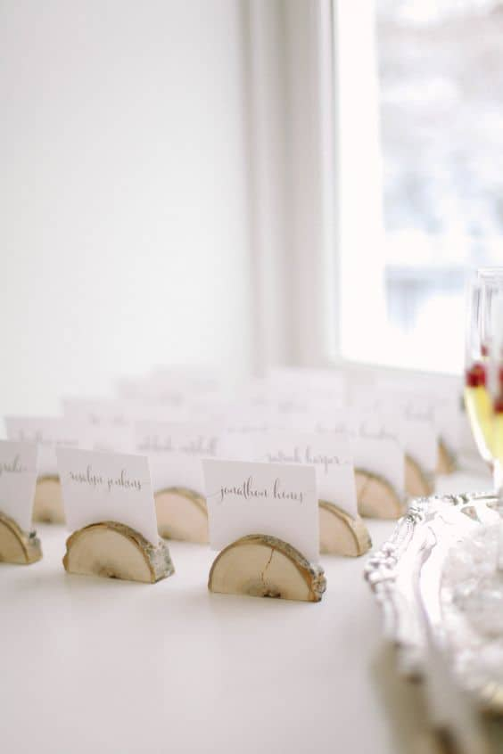 20. WOODEN WEDDING NAME HOLDERS