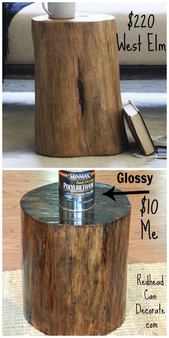 5. TREE LOG SIDE TABLE