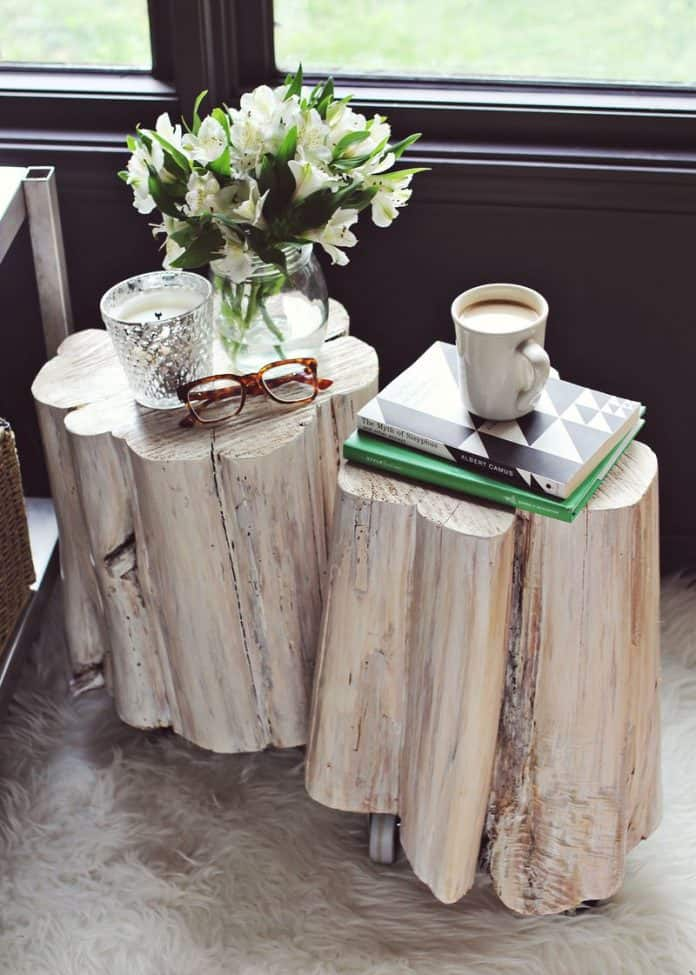 14. ORGANIC DIY SIDE-TABLE