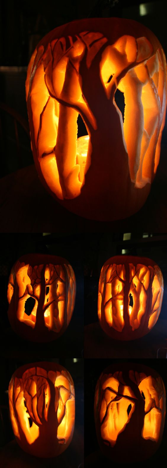 55. FOREST PUMPKIN CARVING