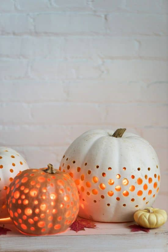 36. PIERCE PUMPKINS AND ILLUMINATE THEM FROM WITHIN