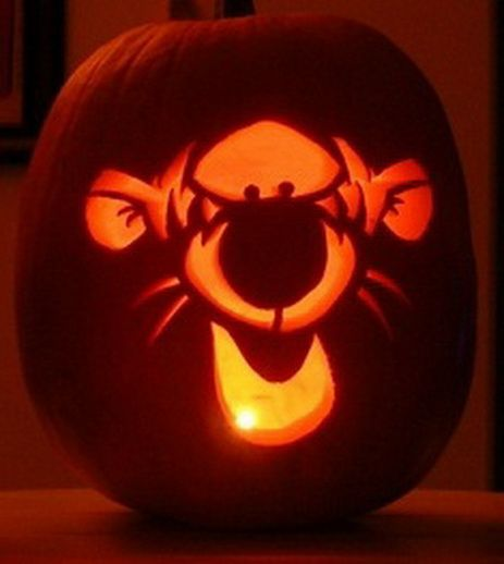 59. CARVE A TIGER ON A PUMPKIN