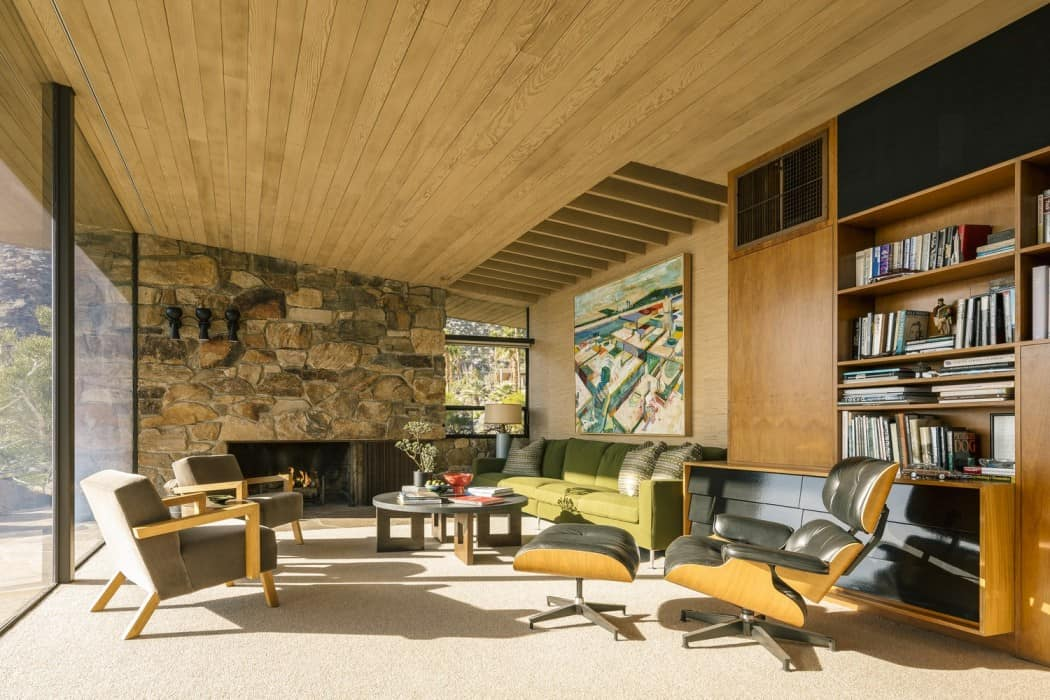 Edris house in palm springs california by e stewart for Mid century modern furniture palm springs