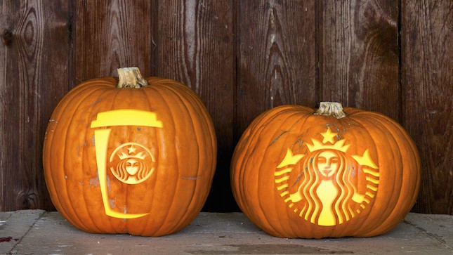 110. DIY STARBUCKS PUMPKINS