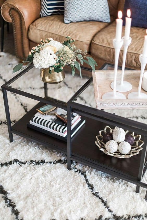 21. Transparent Industrial Coffee Table