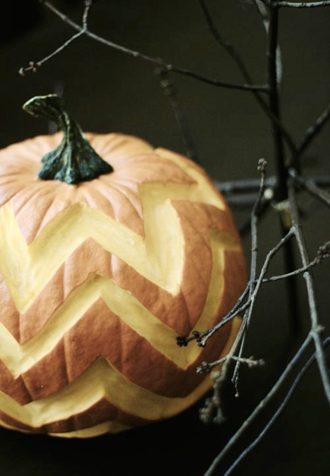 86. CHEVRON PATTERN PUMPKIN CARVING
