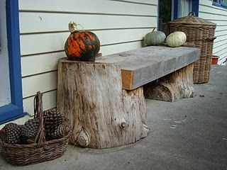 3. LOG PORCH BENCH