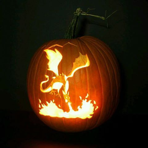 57. FIRE-SPITTING DRAGON PUMPKIN CARVING