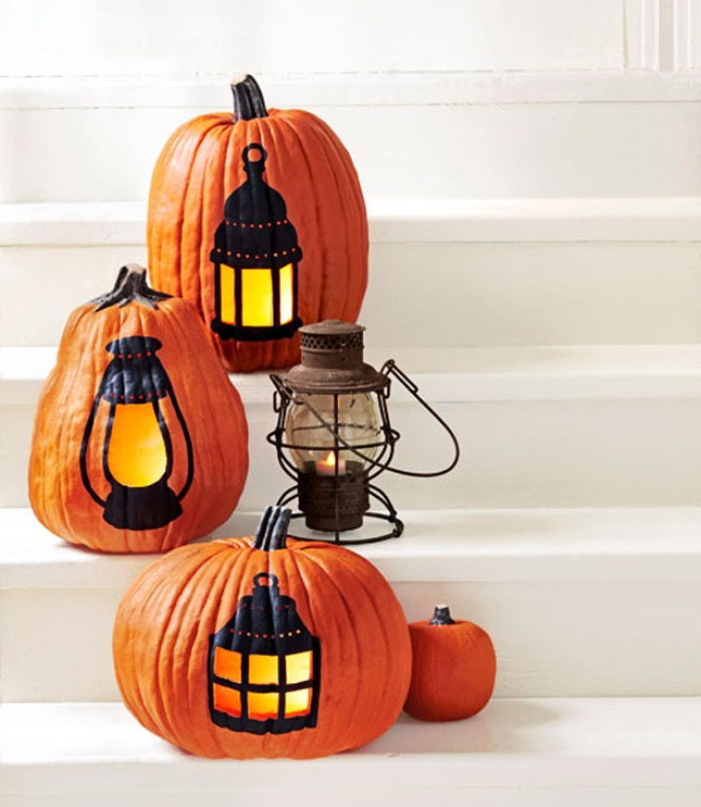 88. PUMPKIN LANTERN COLORING A STARK WHITE DECOR