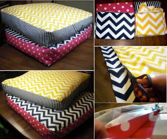 13. CHEVRON DIY DOG BED MATTRESS