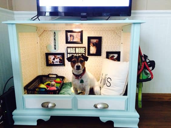 11. RE-PURPOSE FURNITURE INTO A NEAT DOG ROOM