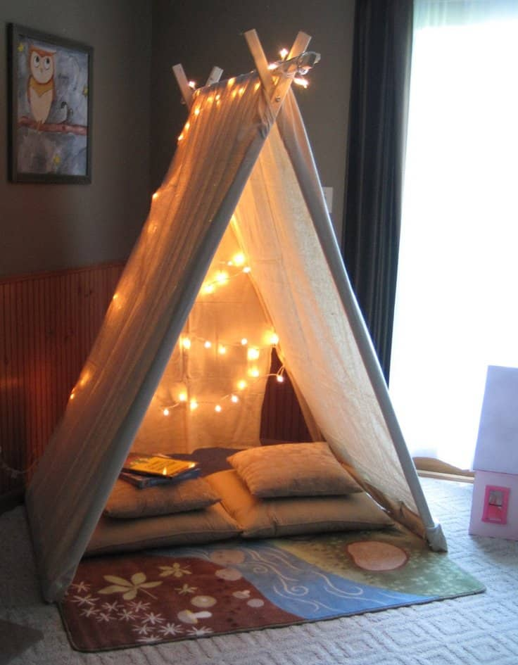 39 Swift and Insanely Fun DIY Tent for Kids 17