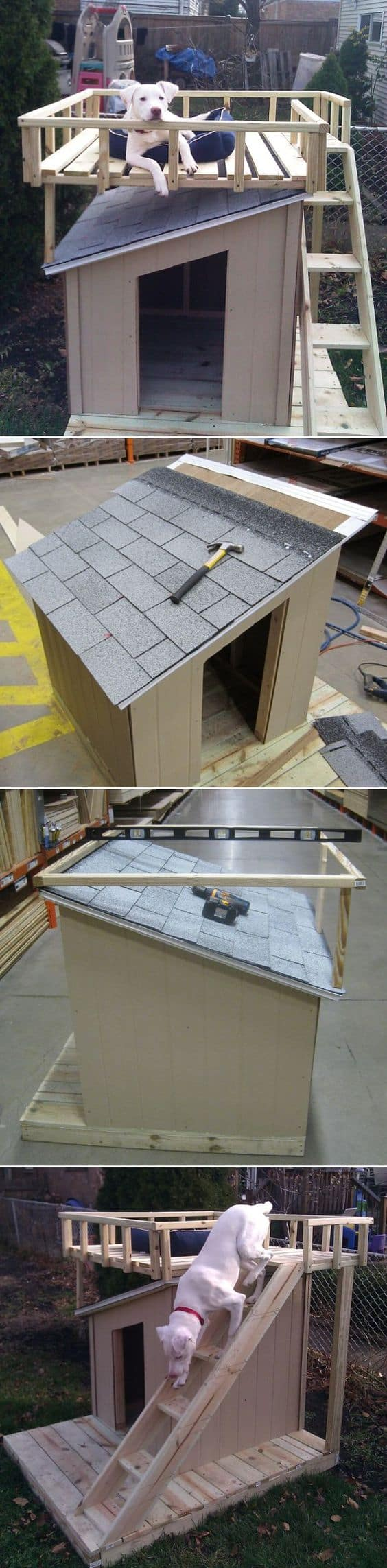 2. DIY DOG HOUSE WITH SKY TERRACE