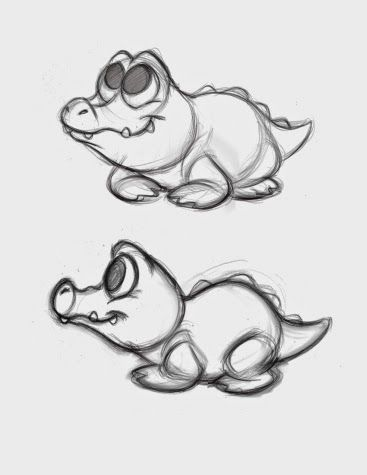 CARTOON-LIKE ALLIGATOR SKETCH