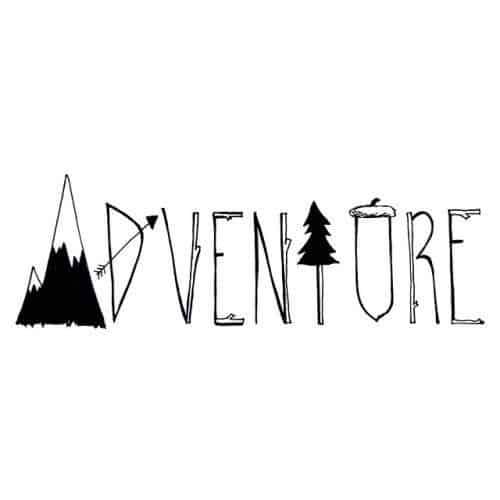 STUNNING ADVENTURE LETTER DESIGN