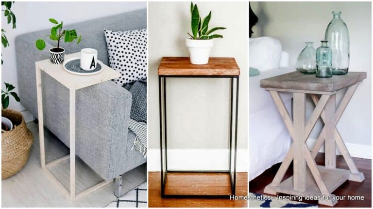 29 Ingeniously Creative DIY End Table For Your Home