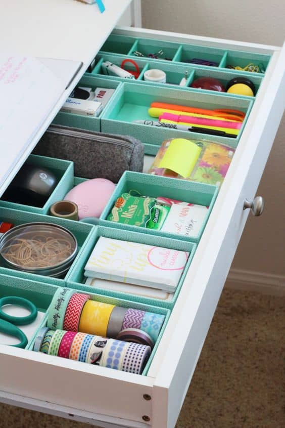 colorful drawer organizer for you desk