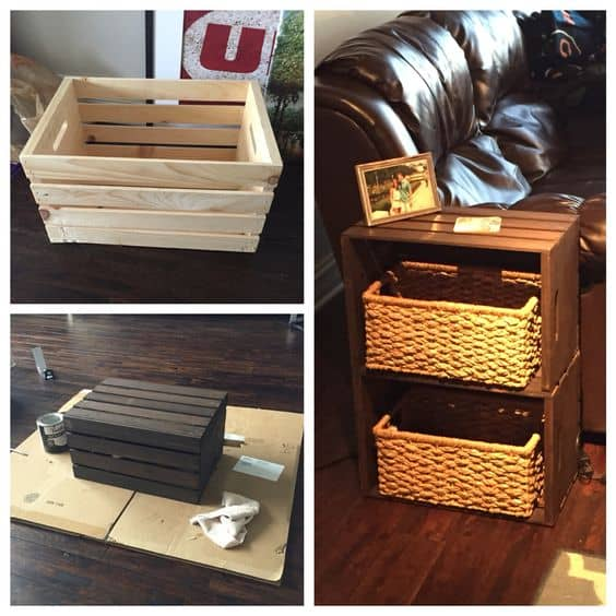 6. GIVING WOODEN CRATES AN OLD LOOK