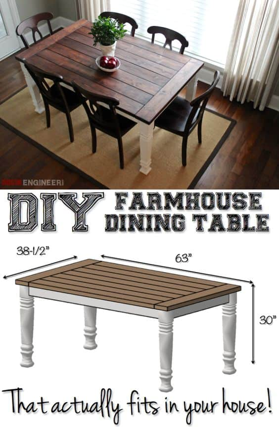 49 epic diy dinning table projects for your home for Epic diy projects