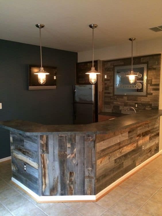 Basement Ideas Part - 32: 1. Simple And Cozy Basement Bar Idea
